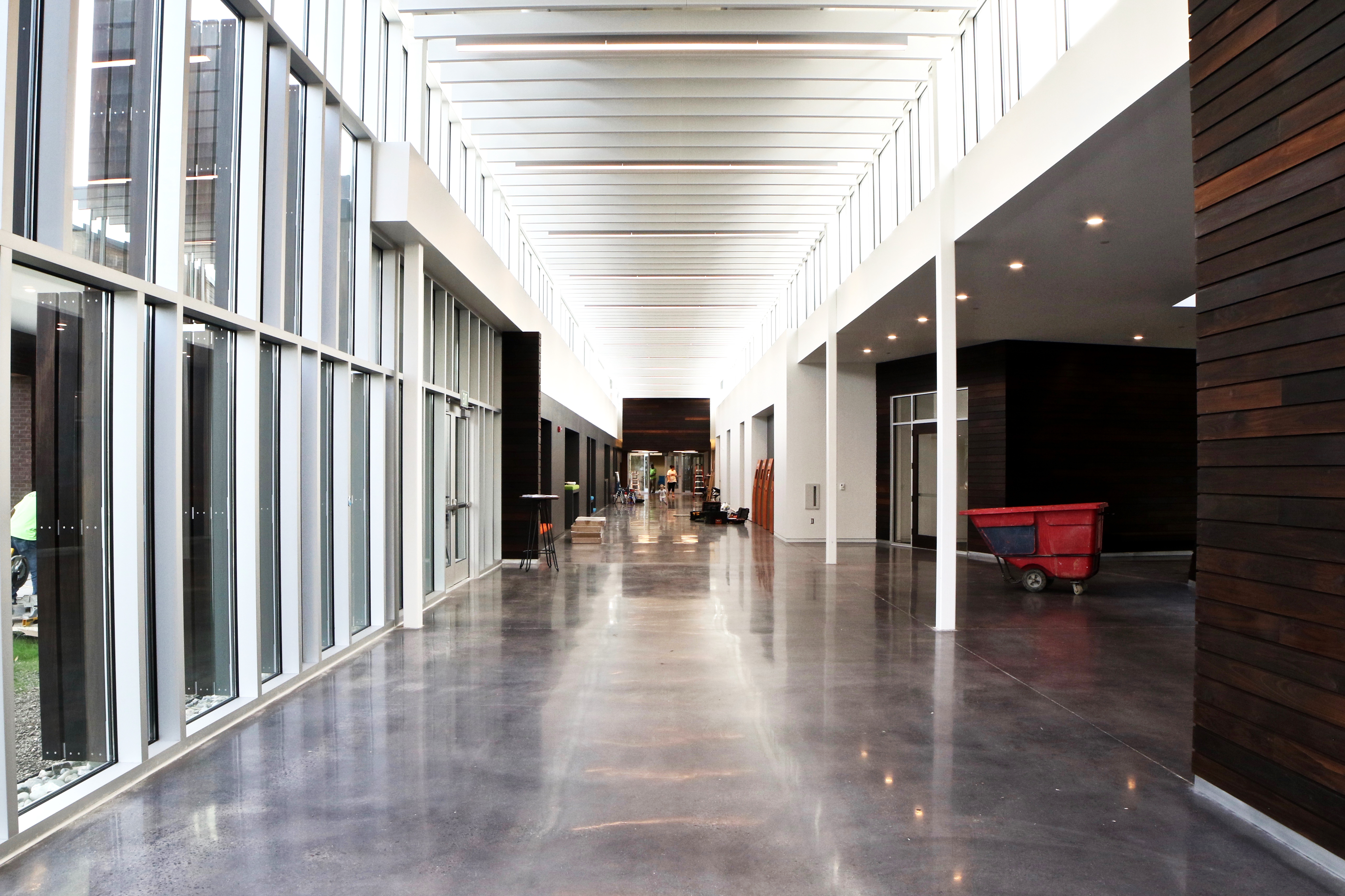 polished concrete at hope church