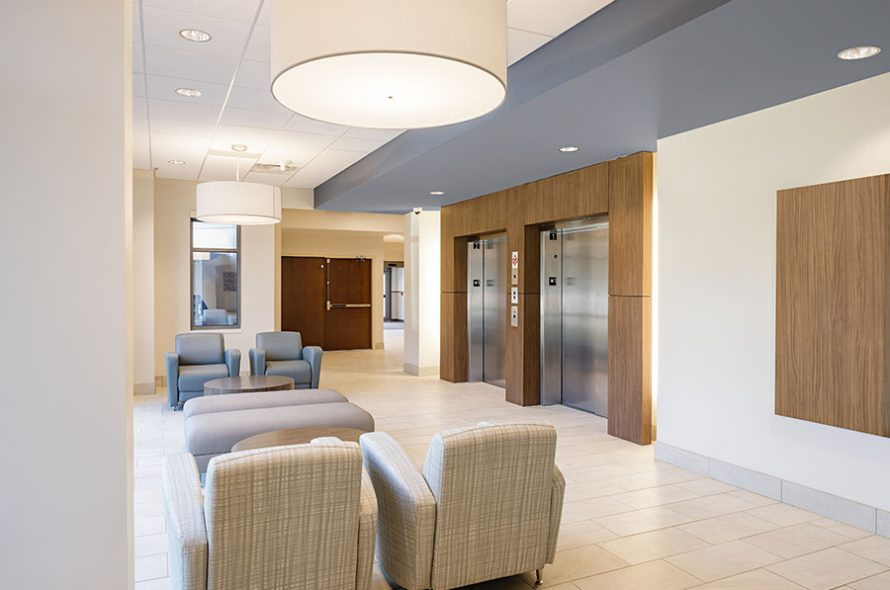 interior view of the sentara belleharbour ambulatory center showing a waiting area