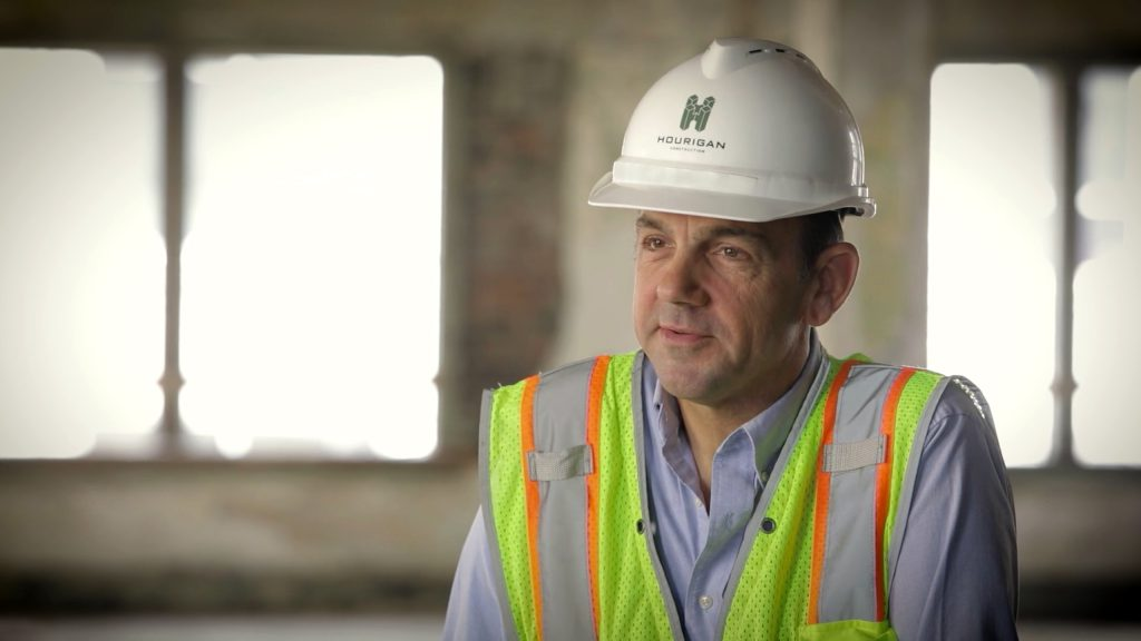 a military services veteran employee at hourigan construction