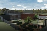 exterior rendering of tucker library in norfolk