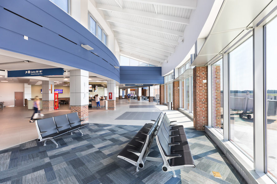 Image of Newport News Airport Consolidated Security Screening Checkpoint and Concourse Connector