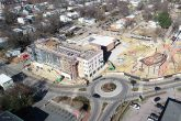 church hill aerial drone image of project
