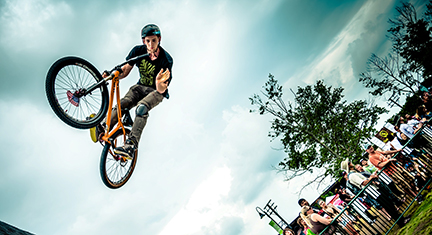 Image of a Freestyle Bike competition