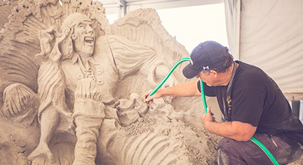 Image of a Sand Sculpture at Neptune Festival